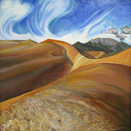 Camel Cricket       |       Oil/Canvas, 30x32in, 2010, Collection Great Sand Dunes National Park
